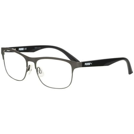 Puma Eyeglasses PU0110O PU/0110/O Ruthenium/Black Full Rim Optical ...