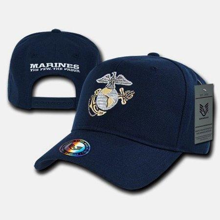 2626fb965ff38 Blue United States Marine Corps Marines USMC Baseball US Military Ball Cap  Hat - Walmart.com