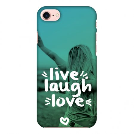 Love Screen - iPhone 7 Case, Premium Handcrafted Designer Hard Shell Snap On Case Shockproof Printed Back Cover with Screen Cleaning Kit for iPhone 7 -Live Laugh Love , Slim, Protective