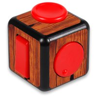 Skin Decal Wrap for Fidget Cube sticker Knotty Wood