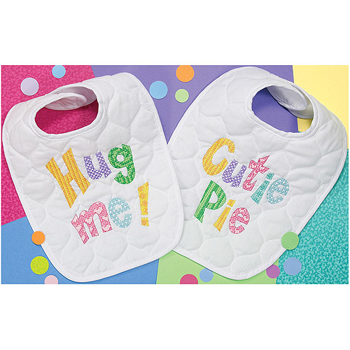 "Dimensions Baby Hugs ""Cutie Patootie"" Bibs Stamped Cross Stitch Kit, 8-1/2"" x 11"", Set of 2"
