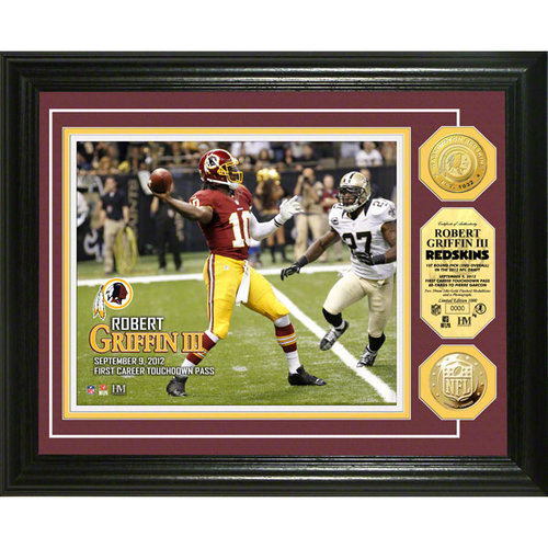 NFL - Washington Redskins Robert Griffin III 1st Career Touchdown Pass Gold Coin Photomint
