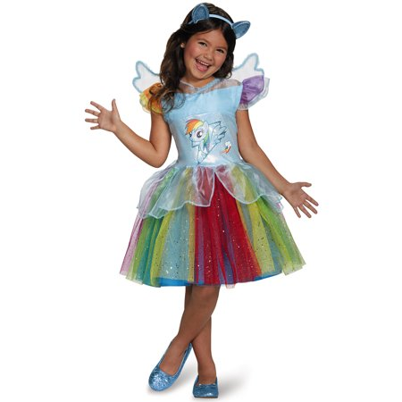 My Little Pony Rainbow Dash Tutu Dress Girls Halloween Costume - Pony Maker Halloween