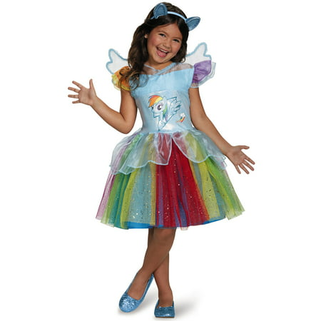 My Little Pony Rainbow Dash Tutu Dress Girls Halloween Costume - Little Pony Halloween