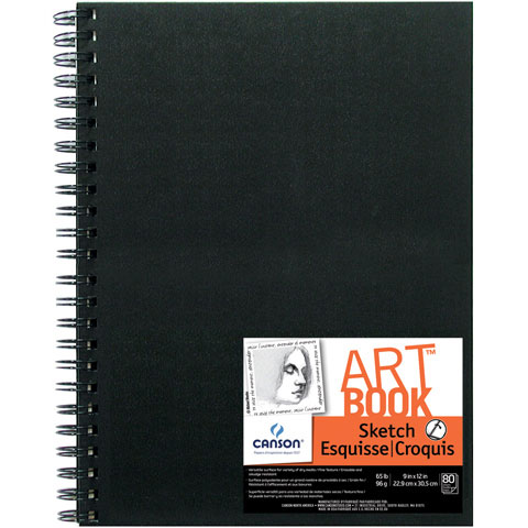 Field Sketch Book: Spiral Bound, 9 x 12 inches