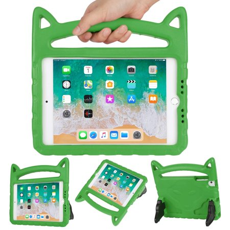 HDE Kids Cat Ear Case for iPad Mini 1/2/3/4/5 Lightweight Shockproof Case with Handle and Kickstand for Apple iPad Mini 5 (2019), Mini 4, Mini 3, Mini 2 and Original Mini