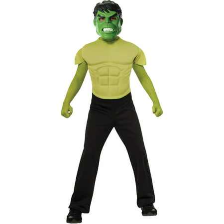 Hulk Top and Mask Child Halloween Costume, One Size, 8-10