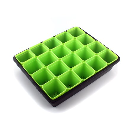 Plant Seedling Starter Trays Planting Trays +  Green Square Seed Starter - Square Planting Pots