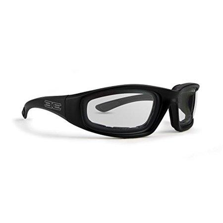 Epoch Eyewear EPOCH Foam Photochromic Padded Motorcycle Sunglasses Black Frames Clear to Smoke (Photochromic Motorcycle Sunglasses)