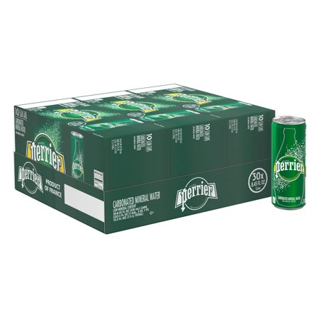 Perrier Carbonated Mineral Water, 8.45 fl oz. Slim Cans (30 (Best Flavored Sparkling Water Brands)