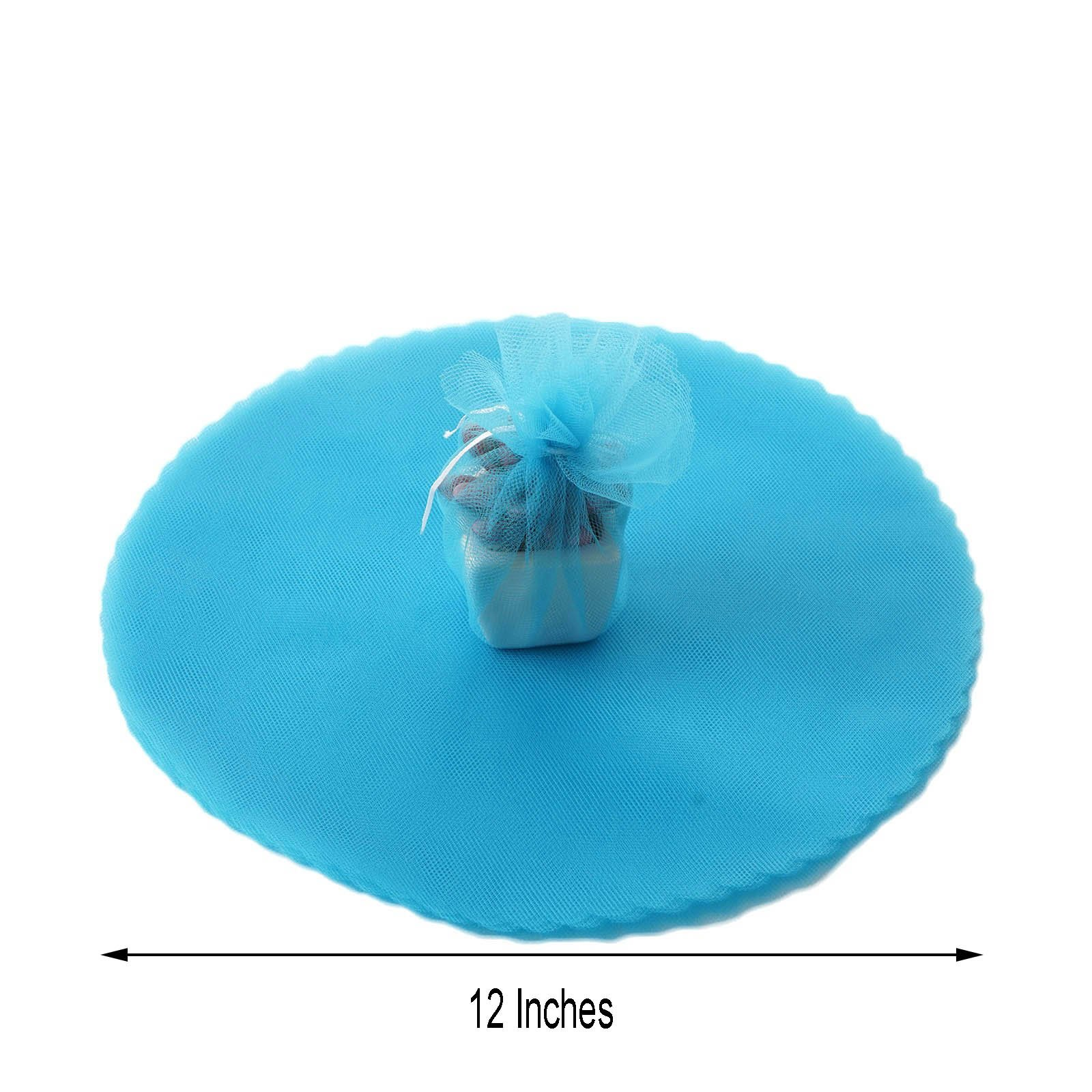 New in Package Victoria Lynn 10 Tulle Circles Light Blue Tulle 50 Tulle Circles Baby Blue