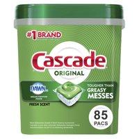 Cascade ActionPacs Dishwasher Detergent, Fresh Scent, 85 Ct