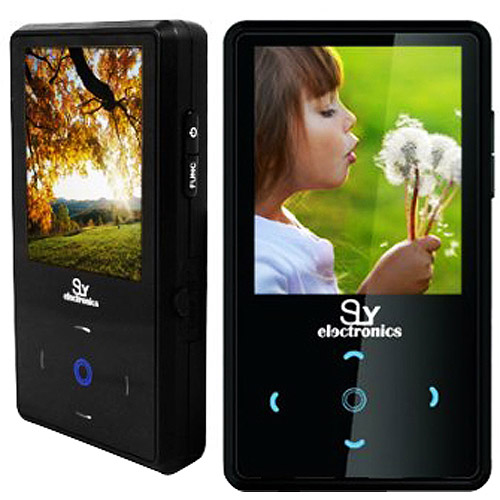 Sly Electronics 4 GB Video MP3 Player with 2_Inch Touchscreen, FM Radio, and Voice Recorder _Black_ by Sly