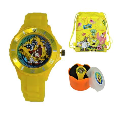 Silicone Quartz Wrist Watch - SpongeBob SquarePants Silicone Quartz Wrist Watch For Kids.