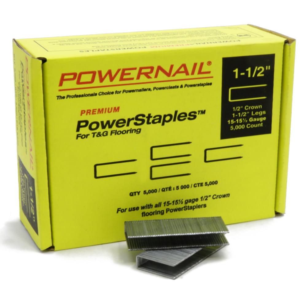 POWERNAIL 15.5-Gauge 1.5-Inch Flooring Staples | PS1505