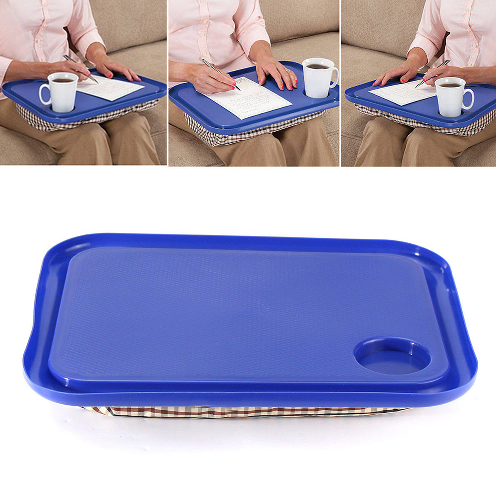 Girl12Queen Portable Handy Lap Top Tray Holder Laptop Table Outdoor Learning Desk 42.5x33cm