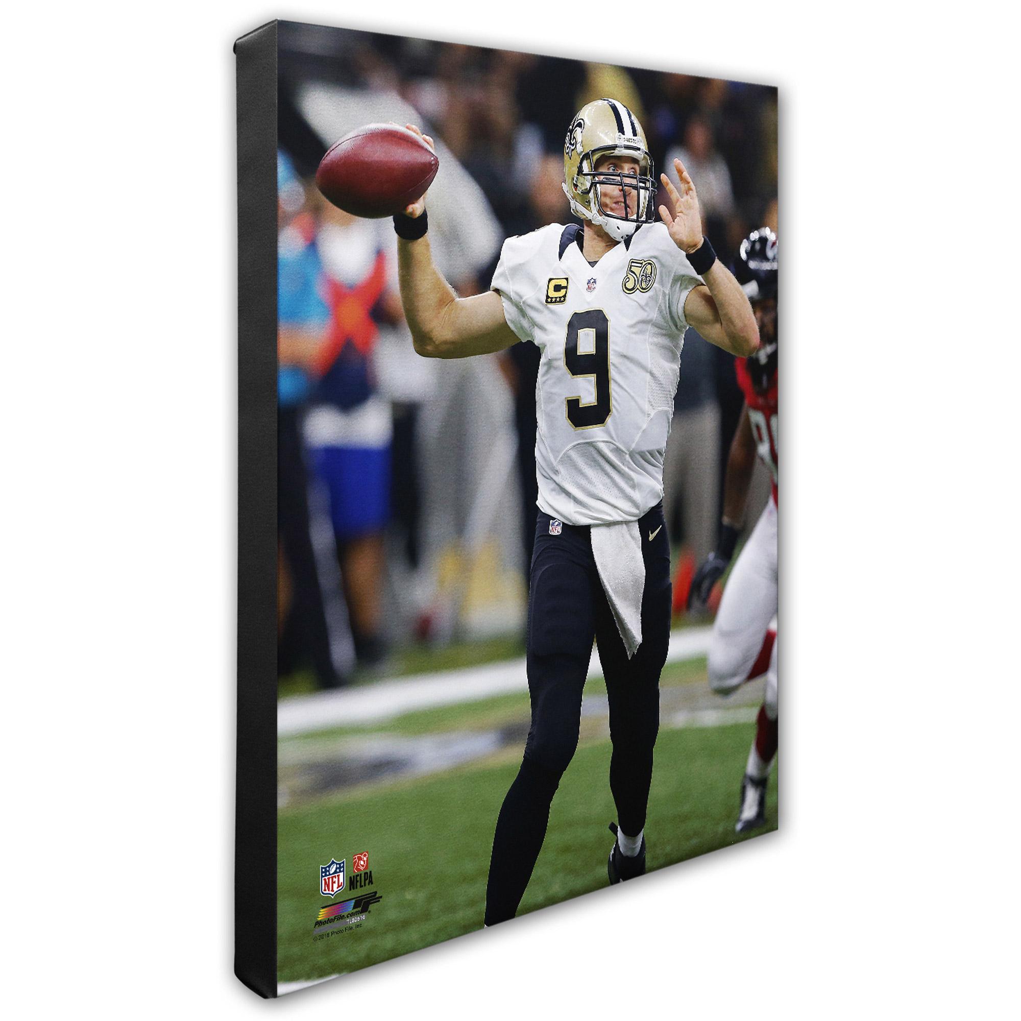"""Drew Brees New Orleans Saints 16"""" x 20"""" Vertical Player Canvas - No Size"""