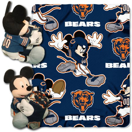 Disney NFL Chicago Bears Hugger Pillow and 40