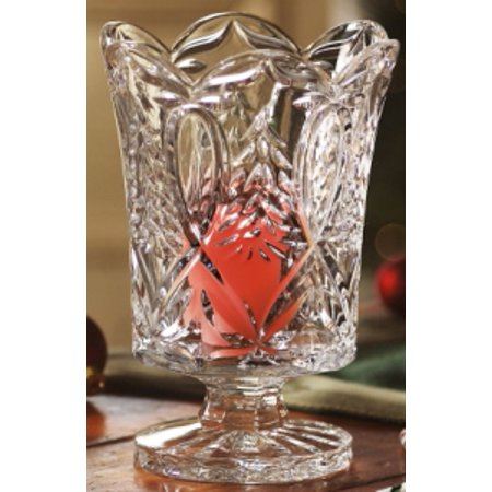 Ornaments Collection Crystal Footed Hurricanevase Walmart