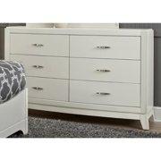 Liberty Furniture Industries Avalon II White Truffle 6-Drawer Dresser
