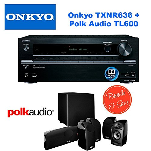 Onkyo TX-NR636 7.2-Channel Network A V Receiver + Polk Audio 5.1 TL1600 Speaker System by Electronics Expo