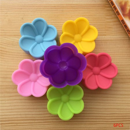 6pcs Flower Petal Silicone Mold Form To Bake Fondant Mold (Petal Mold)