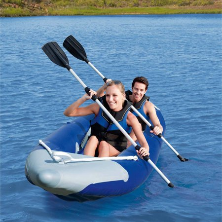 Ozark Trail 2 Person Bolt Inflatable Kayak With 2 Oars  Pump And Carry Bag
