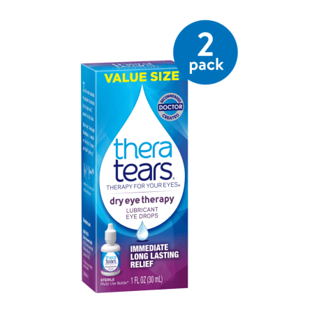 (2 Pack) Thera Tears® Dry Eye Therapy Lubricant Eye Drops 1 fl. oz. Bottle