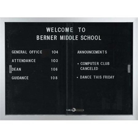 (Aarco Products SDC3648 Enclosed Bulletin Board Letter Panel with Aluminum Frame)