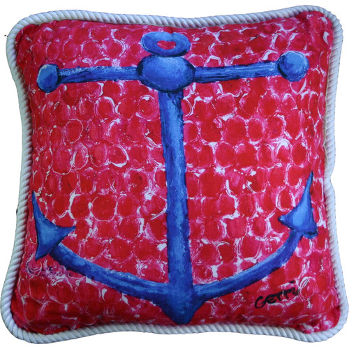 My Island Anchor Throw Pillow