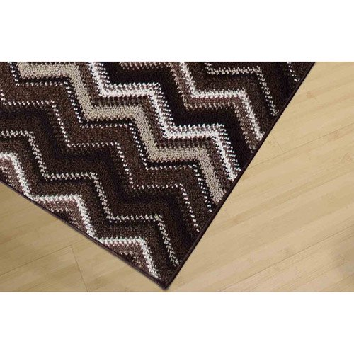 7e07d446d69 Garland Pow-Wow Zig-Zag Patterned Woven Olefin Area Rug