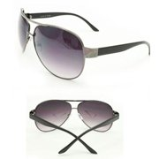 Soul Wireless F762Black Aviator Fashion Sunglasses F762 Black Lightweight Metal Frame