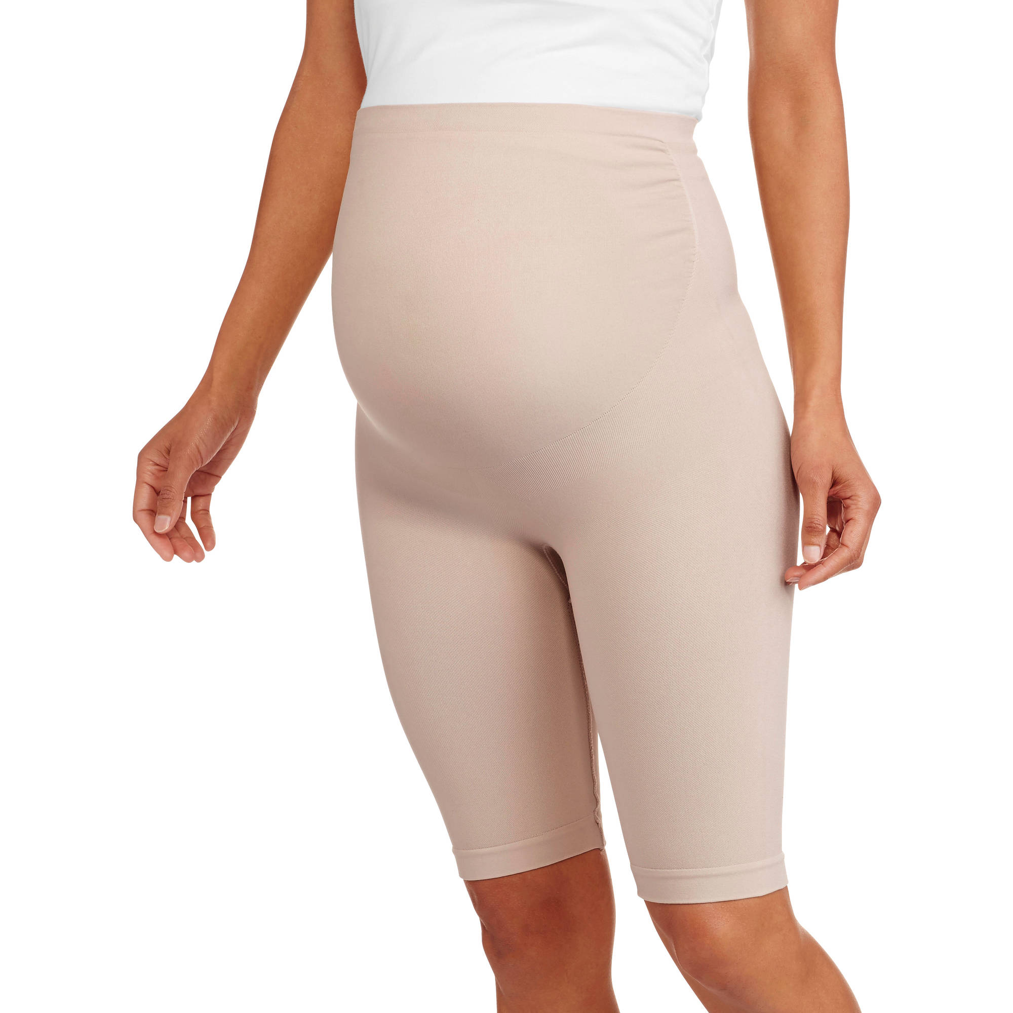 """Nurture by Lamaze Maternity Over-the-Belly 9"""" Seamless Thigh Shaper and Support"""
