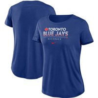 Toronto Blue Jays Nike Women's Club Lettering Essential Tri-Blend Performance T-Shirt - Royal
