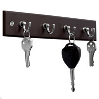 Home Basics 4 Hook Wall Mounted Key Holder Rack for Entryway, Kitchen, Bedroom  Organize Car Keys, House Keys, Small Accessories and Jewelry (Cherry)