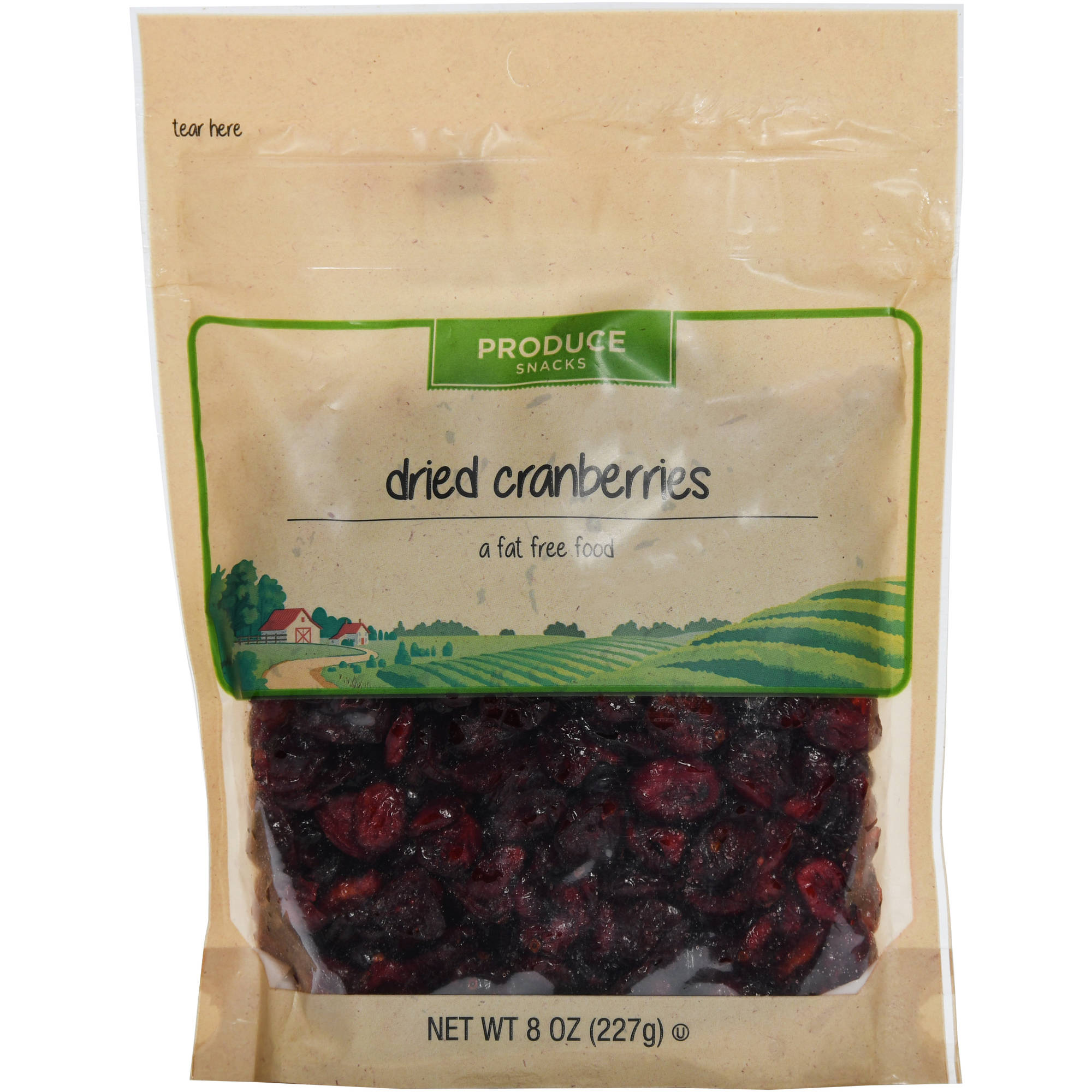 Produce Snacks Dried Cranberries, 8 oz