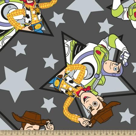 Disney Toy Story Buzz and Woody Star Toss Fleece Fabric By The (New Disney Kids Fleece)