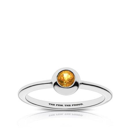 US Marines Light Citrine Ring In Sterling Silver Design by BIXLER