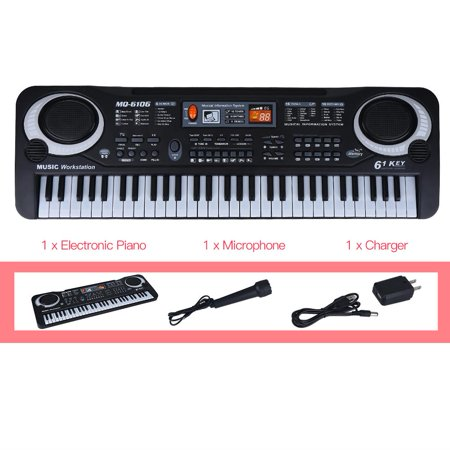 Yosoo 61-Key Electric Digital Key Board Piano Musical Instruments Kids Toy with Microphone, Keyboard Electric Piano, Musical Instruments Toy
