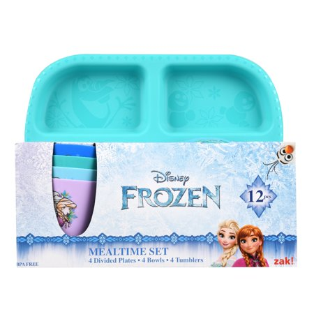 Zak Designs Disney Frozen 12pc Dinnerware Set