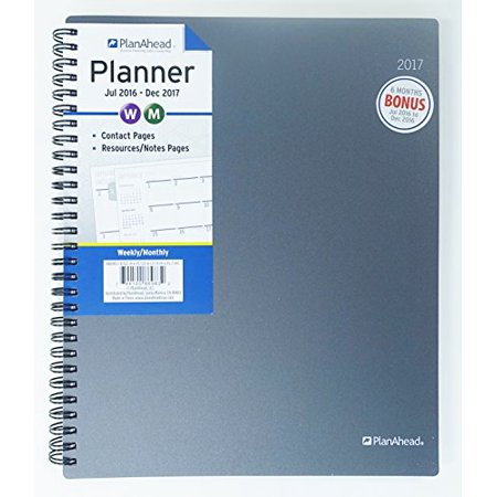 PlanAhead Home/Office 18 Month Planner, July 2016 - December 2017, 8.6 x 10.125 inches, Assorted Colors, Color May Vary (86983) - image 4 of 4