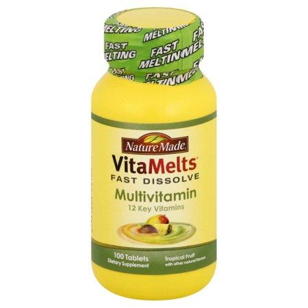 Nature Made Nutritional Products Nature Made VitaMelts Multivitamin, 100 (Advanced Nutritional System Multi Vitamin)