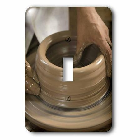 3dRose Nicaragua, Catarina. Pottery wheel and clay - SA14 JME0128 - John and Lisa Merrill, Double Toggle - Clay Wheel