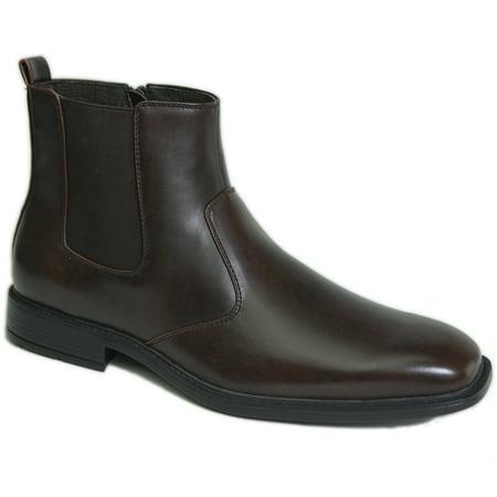 (Alpine Swiss Nyon Men's Chelsea Boots Dress Ankle Slip On Shoes Zipper Pull Up)