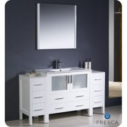 Fresca Torino 60'' Single Bathroom Vanity Set with Mirror