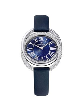 Swarovski Duo Watch - Leather Strap - Blue - Stainless Steel - 5484376