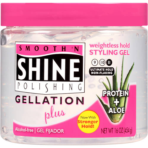 Smooth 'N Shine Polishing Gellation Plus Weightless Hold Styling Gel 16 Oz Jar