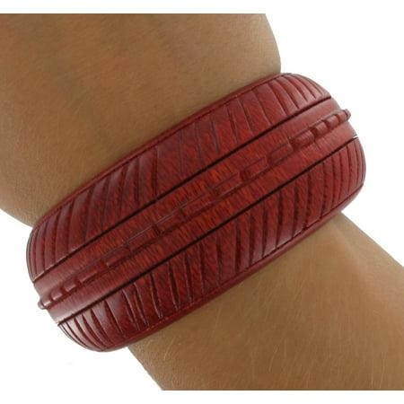 Big Wood Red Bangle Bracelet Wooden Big Bangle Bracelet