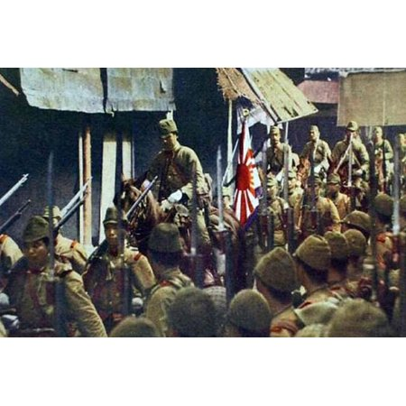 Japanese Marines Raise the Imperial Flag in China Print Wall Art ()