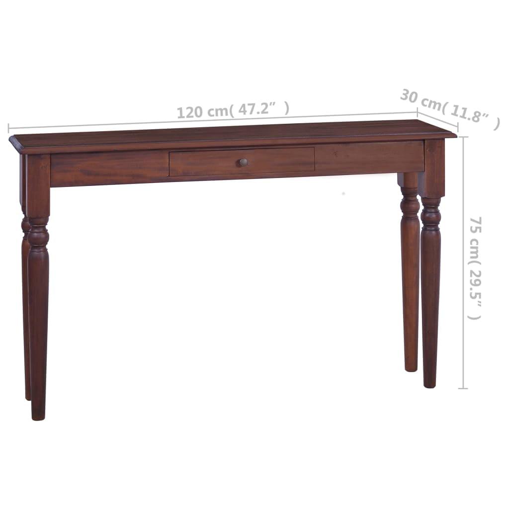 Vidaxl Console Table Classical Brown 47 2 Quot Solid Mahogany Wood Walmart Com Walmart Com